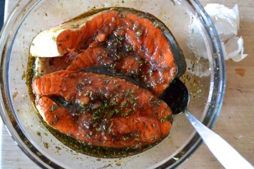 salmon supper steaks