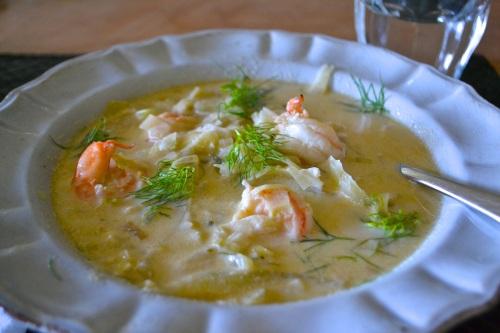 shrimp stew close