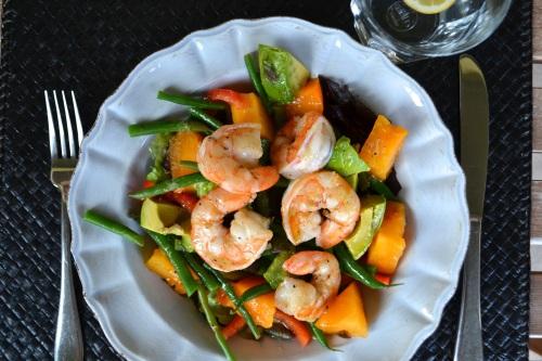shrimp salad above