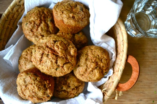 carrot muffins above