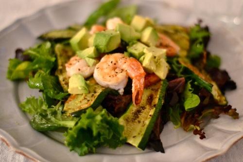 prawn zucc salad close