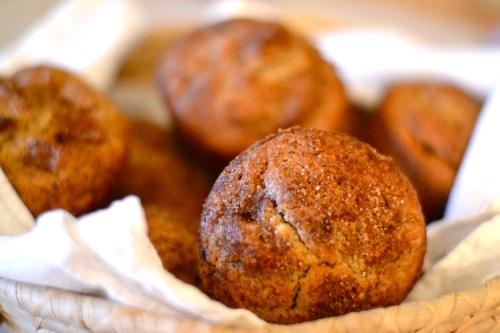 apple muffin close