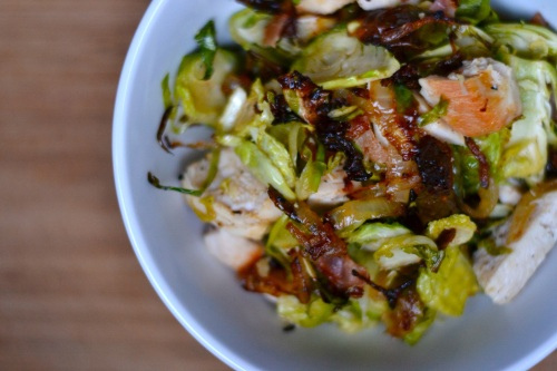 bacon salad above