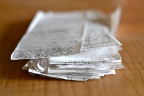BPA receipts