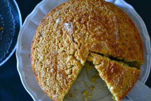 lemon cake above