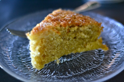 lemon cake close