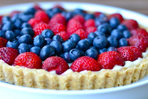 4th of july pie close