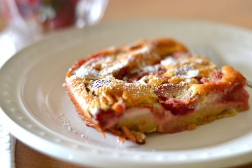 clafoutis slice close