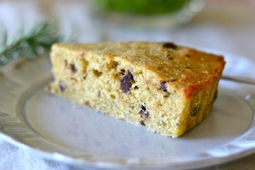 olive cake slice side