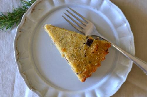 olive cake slice top