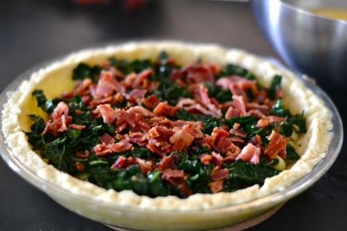 quiche bacon layer