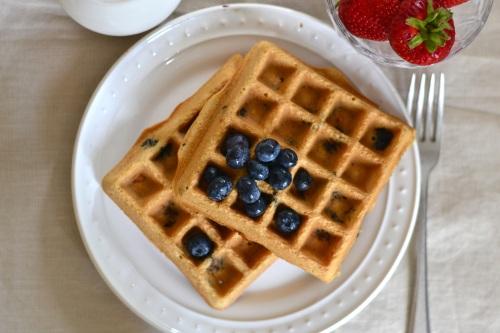 paleo waffles above