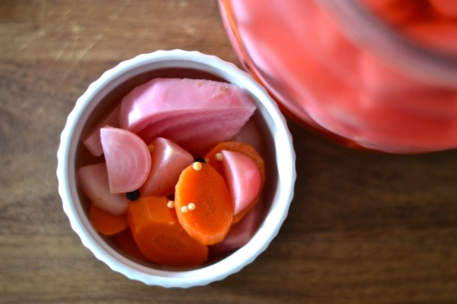 pickled veg above