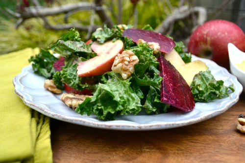 kale salad close