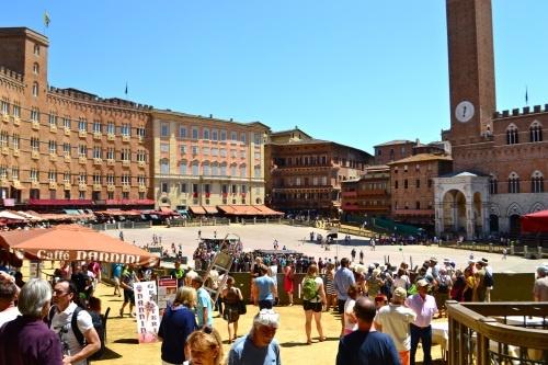 Lovely Siena the day before the Palio horse race.